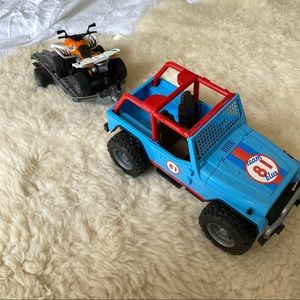 Bruder Jeep with ATV Toy